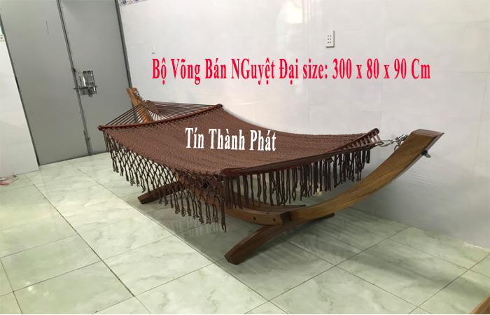 Bộ võng xếp bán nguyệt Tín Thành Phát chất liệu cao cấp 100%